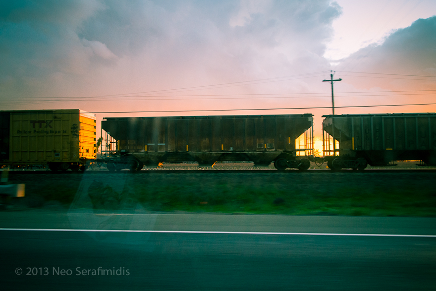 Train Cars Along Hwy 99