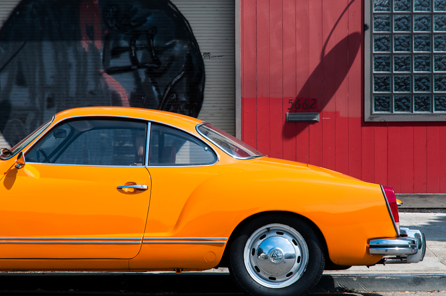 Orange Karmann Ghia